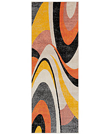 "Surya City CIT-2346 Coral 2'7"" x 7'3"" Runner Area Rug"