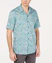 a6dd9219c58 Tasso Elba Men s Notte Floral Graphic Shirt