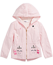 Epic Threads Little Girls Hooded Unicorn-Pocket Jacket, Created for Macy's
