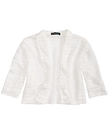 Sequin Hearts Big Girls Three-Quarter-Sleeve Cardigan