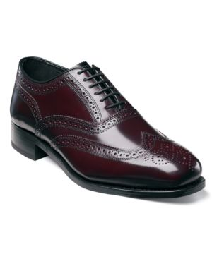FLORSHEIM Men'S Lexington Wing-Tip Oxford Men'S Shoes in Wine