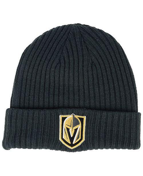 4bdc2e4b7b8 Authentic NHL Headwear Vegas Golden Knights Fan Basic Cuff Knit Hat ...
