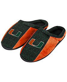 Forever Collectibles Miami Hurricanes Knit Cup Sole Slippers