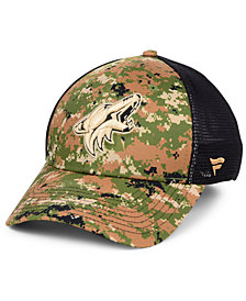 Authentic NHL Headwear Arizona Coyotes Military Appreciation Speed Flex Stretch Fitted Cap