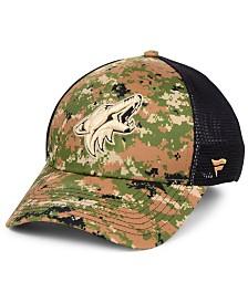Authentic NHL Headwear Arizona Coyotes Military Appreciation Speed Flex Stretch Fitted Cap