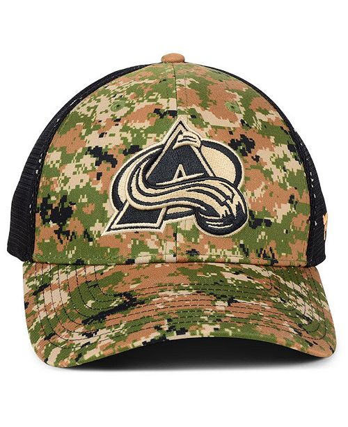 ccecf3ef864 Authentic NHL Headwear Colorado Avalanche Military Appreciation Speed Flex  Stretch Fitted Cap - Sports Fan Shop By Lids - Men - Macy s
