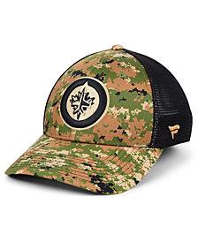 Authentic NHL Headwear Winnipeg Jets Military Appreciation Speed Flex Stretch Fitted Cap