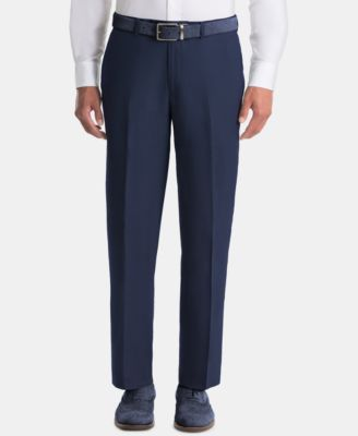 Men's UltraFlex Classic-Fit Navy Linen Pants