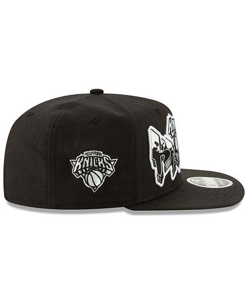 quality design f674c 01869 ... New Era New York Knicks Retroword Black White 9FIFTY Snapback Cap ...