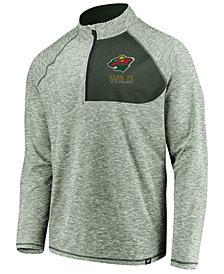 Authentic NHL Apparel Men's Minnesota Wild Static Quarter-Zip Pullover