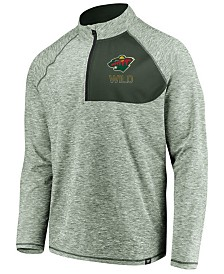 Authentic NHL Apparel Men's Minnesota Wild Static Quarter-Zip Pullover