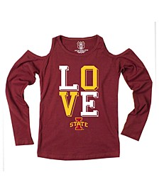 Iowa State Cyclones Cold Shoulder Long Sleeve T-Shirt, Girls (8-16)