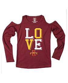 Wes & Willy Iowa State Cyclones Cold Shoulder Long Sleeve T-Shirt, Girls (8-16)