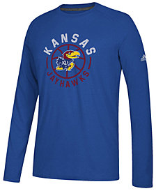 adidas Men's Kansas Jayhawks Center Court Long Sleeve T-Shirt
