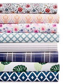 Printed Microfiber Sheet Sets, Created for Macy's
