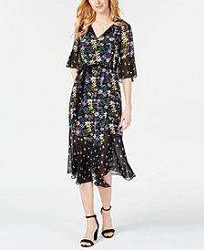 Taylor Twin-Print Midi Dress