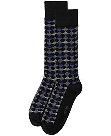Alfani Men's Diamond-Stripe Socks, Created for Macy's