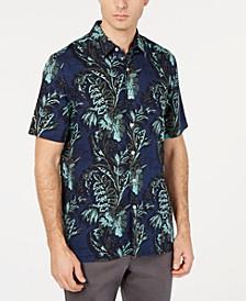 Men's Orologio Floral Graphic Silk Blend Shirt
