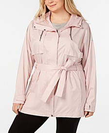 Plus Size Pardon My Trench Rain Jacket