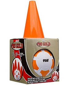 Pro Gold Soccer Ball and Cone Set