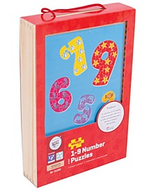 Wooden 1-9 Number Puzzles- 45 Pcs