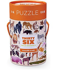Thirty Six Wild Animals Jigsaw Puzzle- 100 Pieces