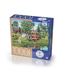 Premium Blue Board Jigsaw Puzzle - Bob Fair - Ice Delivery- 1000 Pieces