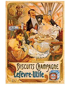 Biscuits Champagne - Vintage Poster Jigsaw Puzzle - 1000 Piece