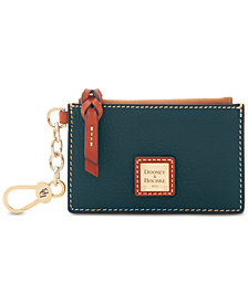 Dooney & Bourke Pebble Leather Ziptop Card Case