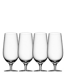 Beer Lager Glasses, Set of 4