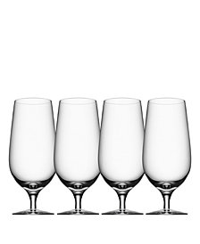 Orrefors Beer Lager Glasses, Set of 4