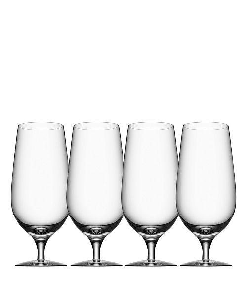 Orrefors Beer Lager Glasses, Set of 4