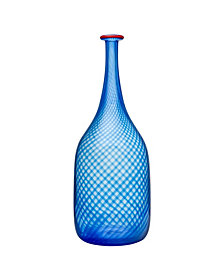 Kosta Boda Red Rim Bottle