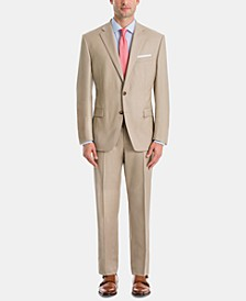 Men's UltraFlex Classic-Fit Tan Wool Suit Separates