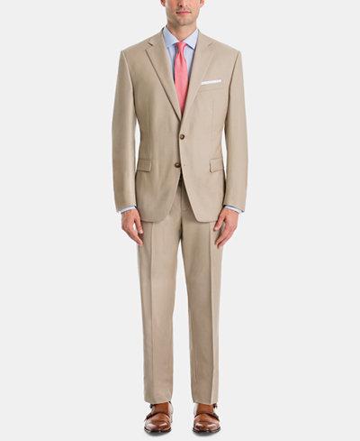 Lauren Ralph Lauren Men's UltraFlex Classic-Fit Tan Wool Suit Separates
