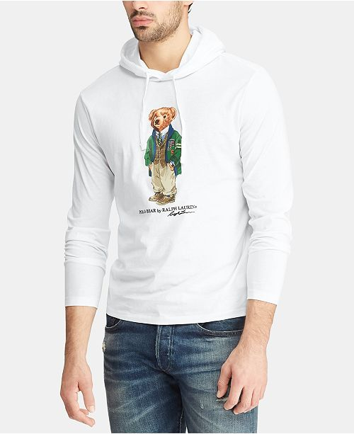 32649989 ... T-Shirt; Polo Ralph Lauren Men's Big & Tall Polo Bear Hooded Long-Sleeve  ...