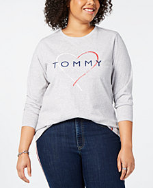 Tommy Hilfiger Sport Plus Size Logo-Print Long-Sleeve T-Shirt