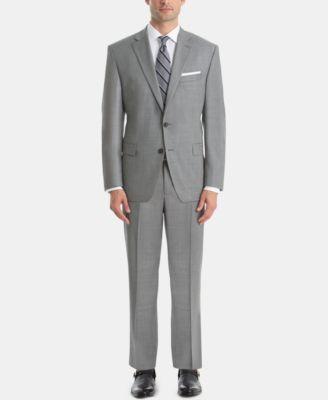 Men's UltraFlex Classic-Fit Sharkskin Wool Suit Jacket