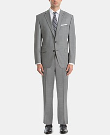 Men's UltraFlex Classic-Fit Sharkskin Wool Suit Separates