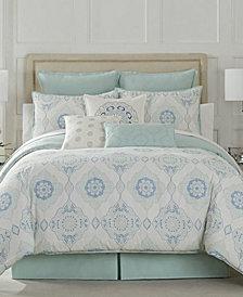 Eva Longoria Black Label Celeste Collection Queen Comforter Set