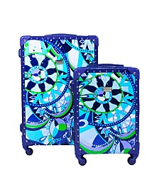 Macbeth Collection Sailing Serafina Trunk 2-Piece Nested Luggage Set