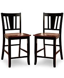 Yuxley Two-Tone Pub Chair (Set of 2)