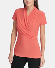 DKNY Ruched Top