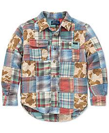 Polo Ralph Lauren Little Boys Patchwork Cotton Workshirt