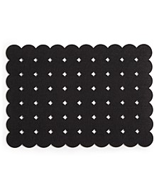 CLOSEOUT! Felt Grid Dot Black Placemat, Created for Macy's