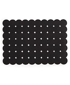 The Cellar Felt Grid Dot Black Placemat, Created for Macy's
