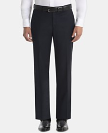 Lauren Ralph Lauren Men's UltraFlex Classic-Fit Navy Wool Pants
