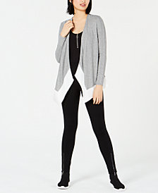 Bar III Colorblocked Cardigan, Bodysuit & Leggings, Created for Macy's