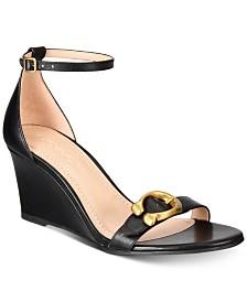 COACH Odetta Wedge Sandals