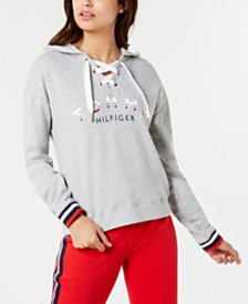 Tommy Hilfiger Sport Lace-Up Logo Hoodie, Created for Macy's